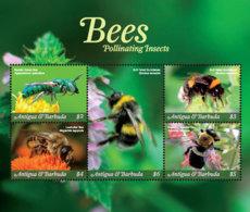 Antigua And Barbuda  2018 Fauna  Bees Pollinating Insects  I201901 - Antigua And Barbuda (1981-...)
