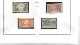 66/69   Expo De 1931  Ch (clasmarro  Charniere - Unused Stamps