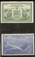 CANADA 1946 10c, 17c SPECIAL DELIVERY SG S15/S16 MOUNTED MINT Cat £17.50 - Airmail: Special Delivery