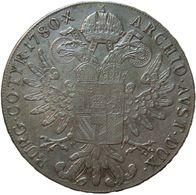 Austria 1 Thaler 1780 S.F. H60 XF / UNC M. Theresa - Silver  Hafner 60 - Autriche