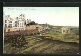 Cartolina Girgenti, Hotel Belvedere - Italie