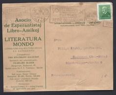 ASOCIO ESPERANTISTAJ LIBRO AMIKOJ LITERATURA MONDO HONGRIE UNGARN HUNGARY BUDAPEST ESPERANTO VIGNETTE SEAL HAGUENAU - Esperanto