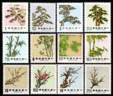 Taiwan 1984-1989 Pine Bamboo Plum Series Stamps  Flower Flora - 1945-... Republic Of China