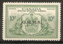 CANADA 1950 10c 'O.H.M.S.'OFFICIAL SG OS20 MOUNTED MINT Cat £15 - Officials