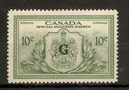 CANADA 1950 10c 'G' OVERPRINT OFFICIAL SG OS21 MOUNTED MINT Cat £26 - Service