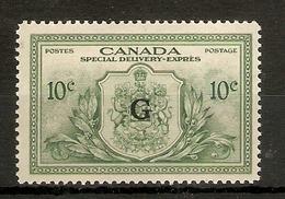 CANADA 1950 10c 'G' OVERPRINT OFFICIAL SG OS21 MOUNTED MINT Cat £26 - Officials