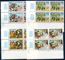 MON 1989 Les 4 Saisons Du Poirier  N°YT Préo 102-105 ** MNH Blocs De 4 Coins Datés - Monaco