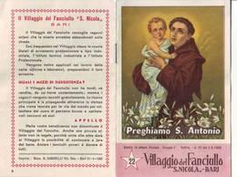 """79)librettino Religioso Villaggio Del Fanciullo S.nicola""""bari"""" - Religion"""
