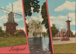 Santpoort - O.a Molen - Kerk - VW-kever  )Beagle)  - Gelopen Met Postzegel [AA42-3.745 - Unclassified