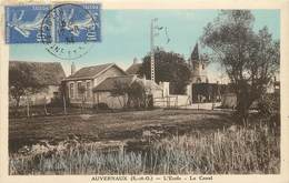 AUVERNAUX - L'école, Le Canal. - France