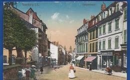 SAARBURG    Langestrasse     Animées   Avec Tampon Militaire  Des Chemins De Fer   écrite En 1919 - Sarrebourg