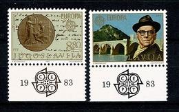 Jugoslavia  1983  Europa  Yv 1867/1868** , Mi 1984/1985** , Cat. Yv. 1,50 € - 1945-1992 République Fédérative Populaire De Yougoslavie