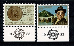 Jugoslavia  1983  Europa  Yv 1867/1868** , Mi 1984/1985** , Cat. Yv. 1,50 € - Neufs