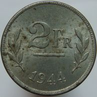 Belgium 2 Francs 1944 AUNC - 1934-1945: Leopold III