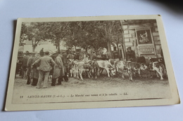 Sainte Maure Le Marche Aux Veaux Et A La Volaille  Voir 2 Scans 1979 - Autres Communes