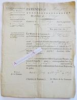 Lyon Vaise Vaize - Patentes 1817 - Lourd - Maréchal - Rhône - Rare - Vieux Papier - Historische Dokumente