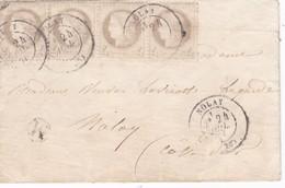 N° 52 Bd De 4 S / Env T.P. Ob T 17 Nolay 24 Juil 76 Pour Nolay ( 1c De Trop ) - 1849-1876: Classic Period