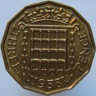 Great Britain 3 Pence 1958 UNC - 1902-1971 : Monete Post-Vittoriane