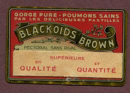 """ BLACKOÏDS BROWN "" : Plaque En Métal  (pharmacie) - Advertising (Porcelain) Signs"