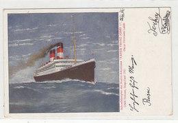 "Schnelldampfer Austro-Americana ""Kaiser Franz Josef I"" - 1913          (190424) - Piroscafi"