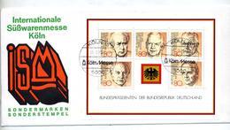 Lettre Cachet Cologne Foire Au Sucrerie Sur Bloc President - [7] République Fédérale