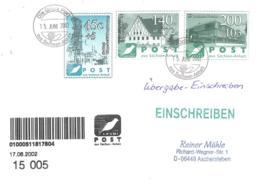 Die Grune Post  45 C + 5  140 Pf 72 C 200 Pf 103 C  Ubergabe Einschreiben Umschlag - [7] Repubblica Federale