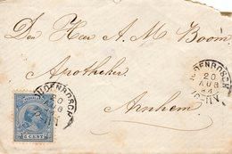20 AUG 94  Briefje Met NVPH 35 Met Kleinrond OUDENBOSCH  Naar Arnhem (hoek Rechtsboven - Storia Postale