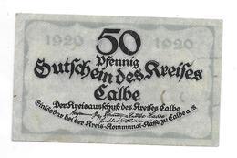 **notgeld Calbe 50 Pfennig C4.1/Id - [11] Local Banknote Issues