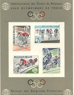 PIA  - BELGIO -  1963 : 80° Anniversario Della Lega Velocipedistica Belga E Olimpiadi Di Tokio  -   (COB LX46  ) - Foglietti