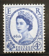 GB Queen Elizabeth 1957 Single Stamp Set Celebrating The 40th Inter-Parliamentary Union Conference. - Unused Stamps