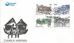 Faroer 1980 Torshavn Fishing Harbour Scenes FDC Cover - Monumenten