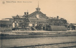 CPA - Belgique - Ieper - Ypres - Ruines De La Gare - Ieper
