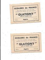 Carnet Vignettes Ecoliers De France, GLATIGNY, Série  ALGERIE 1 Et 2 - Erinnophilie