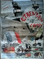 Calendrier 1891 Recto Verso (45x65cm) VOYAGES EXTRAORDINAIRES Jules Verne - Tamaño Pequeño : ...-1900