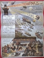 Calendrier 1909 (45x65cm ) OEUVRES COMPLETES Jules Verne Collection HETZEL - Calendars