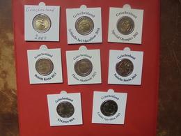 LOT De 2 EURO GRECE 8 DIFFERENTES  2004-2015 QUALITE UNC - EURO