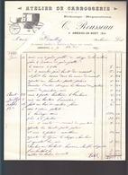 Amberieu En Bugey (01) Atelier De Carrosserie C.Rousseau ,échange, Réparations / Facture 1897 - France