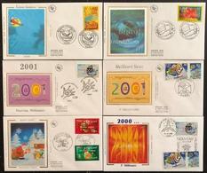 France FDC - Premier Jour - Lot De 6 FDC - Thématique Meilleurs Vœux Félicitations - 2000 - 2000-2009