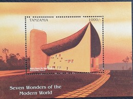 Tanzania  1997 Seven Wonders Of The Modern World S/S - Tanzania (1964-...)