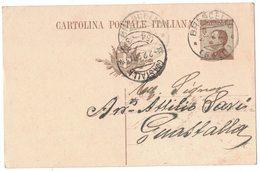 AN142   Regno 1926 Cartolina Postale Da Brescello Per Guastalla  Doppio Annullo Frazionario - Marcophilie