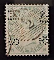 REINE VICTORIA 188384 - OBLITERE - YT 81 - TIMBRE PERFORE - BELLE OBLITERATION - 1840-1901 (Victoria)