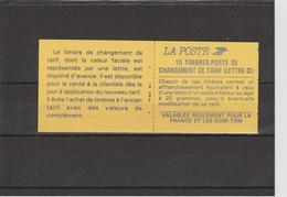 Marianne De Briat - Carnet Autoadhésif - 2713c1 - 10 Timbres ** - Carnets