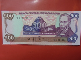 NICARAGUA 500 CORDOBAS 1985 PEU CIRCULER/NEUF - Nicaragua