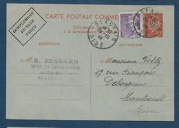 Entier 80 C  Pétain + Complément  Correspondance Commerciale - Cartes Postales Types Et TSC (avant 1995)