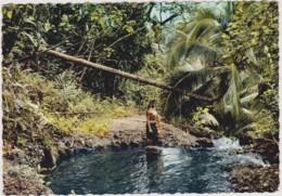 TAHITI - Sous-bois Polynésien - COSTUME, FOLKLORE, CHARME, NU - CPM TBon Etat (voir Scan) - French Polynesia