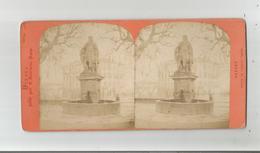 HYERES (VAR) PHOTO STEREOSCOPIQUE ANCIENNE STATUE DE CHARLES D'ANJOU (PHOTO NEURDEIN PARIS) - Photos Stéréoscopiques