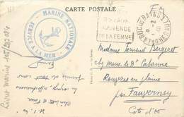 """MARCOPHILIE 2 EME GUERRE Sur CPA FRANCE 34 """"Balaruc"""" / Marine Nationale - Guerres"""
