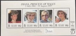 Pitcairn Islands  1998 Princess Diana Sheet Of Four - Stamps