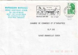 TP N° 2483 Seul  Sur Enveloppe De Gouville Sur Mer - Poststempel (Briefe)
