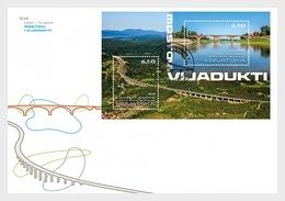 Kroatië / Croatia - Postfris/MNH - FDC Sheet Bruggen En Viaducten 2019 - Kroatië